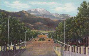 Pikes Peak, From Platte Ave, Colorado Springs, Colorado, 30-40s
