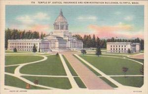 Washington Olympia Temple Of Justice Insurance And Administration Buildings
