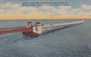Bridge Across Lake Pontchartrain New Orleans Louisiana
