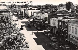 Boonville MO~Main Street~Family Department Store~Holt's Cafe~JC Penney~1953 RPPC