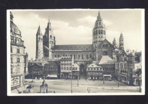 MAINZ DER DAM VON NORDEN GERMANY DOWNTOWN VINTAGE REAL PHOTO POSTCARD