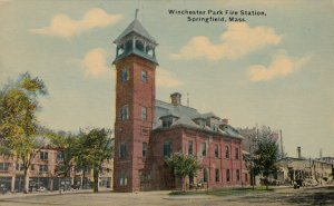 SPRINGFIELD , Massachusetts, 00-10s ; Fire Station , Winchester Park