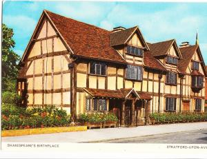 UK, Shakespeare's Birthplace, Stratford-upon-Avon, 1978 used Postcard