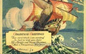 New Years Eve 1928 light internal crease, corner wear, postal used 1928