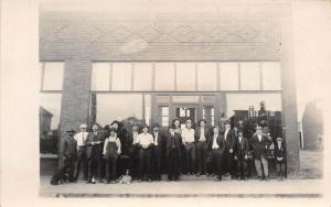 A97/ Petoskey?? Michigan Mi RPPC Postcard Real Photo Storefront Workers