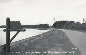 RP: LAC DU FLAMBEAU , Wisconsin , 1930-40s ; Road Scene