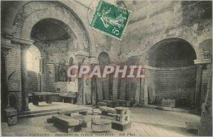Old Postcard Poitiers Baptistere Temple St. John