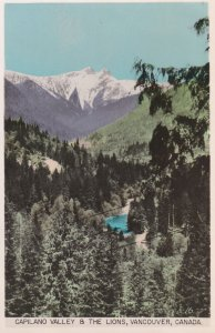 RP; VANCOUVER, British Columbia, Canada, 1930s; Capilano Valley & The Lions