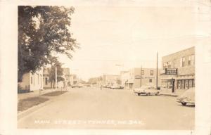 Towner North Dakota~Main Street~Vetsch Variety Store~Mobil Gas~1950s RPPC