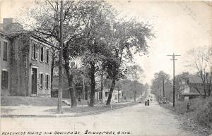 C82/ Bridgeport Ohio Postcard 1909 Deaconess Home Howard St Homes