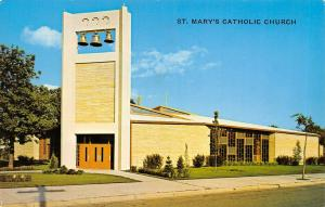 Willmar Minnesota~St Mary's Catholic Church~Free Hanging Bells Tower~1960s PC