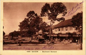 CPA AK INDOCHINA Saigon Boulevard Bonnard VIETNAM (957522)