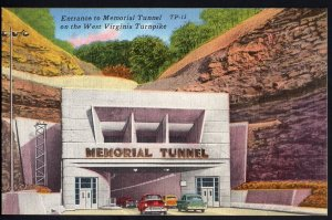West Virginia Entrance to Memorial Tunnel on the West Virginia Turnpike - LINEN