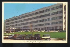 MONTGOMERY ALABAMA ST. MARGARET'S HOSPITAL 1950's CARS VINTAGE POSTCARD