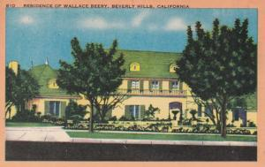 California Beverly Hills Residence Of Wallace Beery