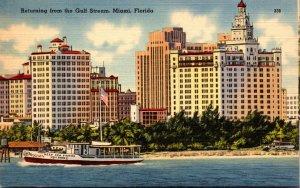 Florida Miami Fishing Yacht Shamrock Returning From The Gulf Stream