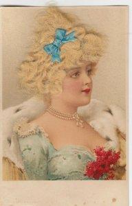 Real Hair ; Blonde Female Head portrait , 1900-10s
