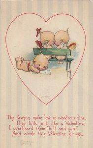 Rosie O'NEILL; Valentine's Day ; Kewpie couple inside heart, 1918