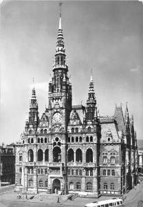 Czech R. Liberec, Town Hall, City Hall, Front View, tram