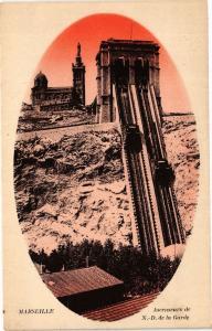 CPA Marseille-Ascenseurs de Notre Dame de la Garde (186045)
