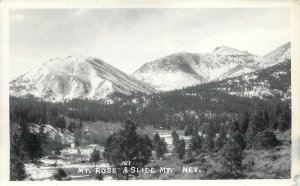 RPPC Postcard 121. Mt. Rose & Slide Mt. NV Washoe County Unposted