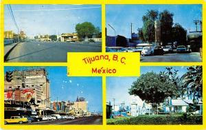 Tijuana BC Mexico city views street scenes Tecate beer sign vintage pc (Y7594)