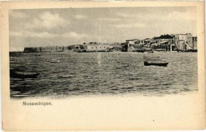 PC CPA MOZAMBIQUE, TOWN VIEW FROM A BOAT, VINTAGE POSTCARD (b20807)