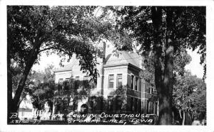 Storm Lake Iowa Court House Real Photo Vintage Postcard JE228398
