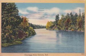 Indiana Greetings From Garrett 1943