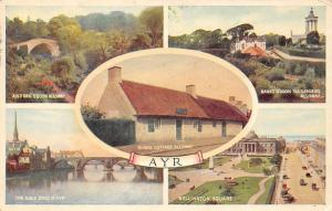 Ayr Auld Brig o'Doon Alloway Banks Tea Gardens Wellington Square Cottage 1954