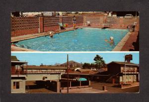 CA Sunset Motel Morro Bay California Postcard Pool