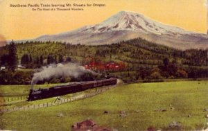 SOUTHERN PACIFIC TRAIN LEAVING MT. SHASTA FOR OREGON 1928