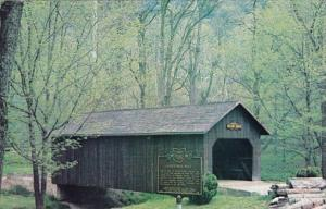 The Thomas J Malone Covered Bridge Spans A Tail Race Next To Restored Gaston'...