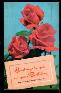 Greetings On Your Birthday,Roses BIN