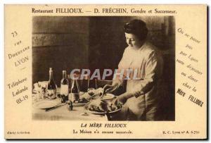 Old Postcard Fillioux Frechin Restaurant La Mere Fillioux Duquesne Lyon