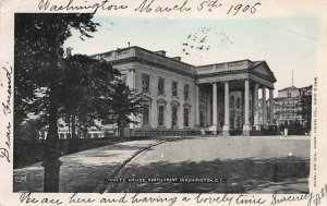 White House, North Front, Washington, D.C., Early Postcard, Used in 1905