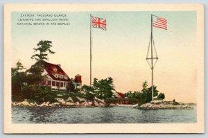 Thousand Islands NY~Zavikon~Canada to United States International Bridge~1930s