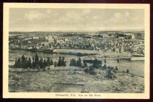 dc1052 - CHICOUTIMI Quebec Postcard 1930s Bridge Birds Eye View by PECO
