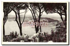 Postcard Old French Riviera Nice Artistic View between Pins