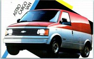 1980s Chevrolet ASTRO CARGO VAN Automobile Advertising Postcard Chevy Unused