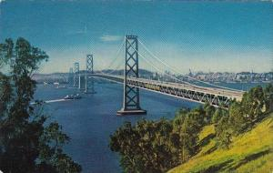 The San Francisco Oakland Bay Bridge Is Eight And One Quarter Miles Long San ...