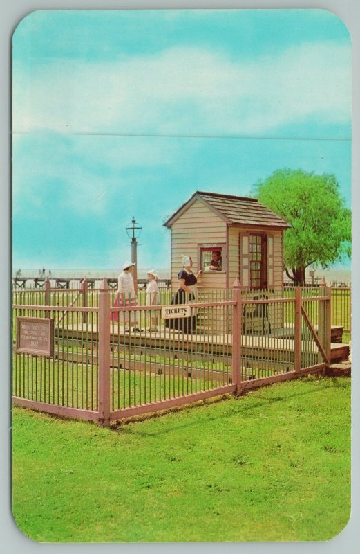 New Castle Delaware~The Ticket Box~Frenchtown Railroad Company~Vintage Postcard