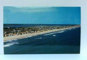 Fenwick Island Delaware Aerial View Beach Along Atlantic Ocean Postcard