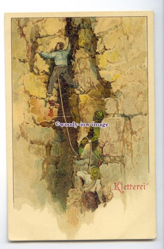 su3349 - An Early Scene, Rock Climbing at Kletterei, Hamburg, Germany - postcard