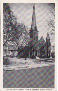 South Carolina Chester Purity Presbyterian Church 1939