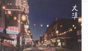SAN FRANCISCO, CA, 1950-60s ; Chinatown at Night