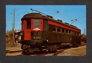 IL Chicago North Shore Milwaukee Railroad Trolley Pullman Car Chicago Illinois