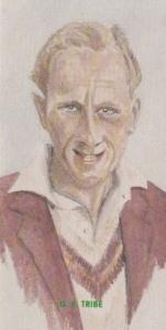 GE Tribe Northamptonshire Cricket Team Player Antique Cigarette Card