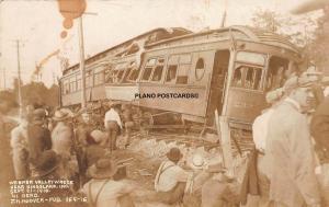 KINGSLAND, INDIANA WABASH VALLEY WRECK-1910. 41 DEAD RPPC REAL PHOTO POSTCARD