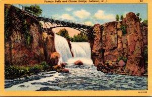 New Jersey Paterson Passaic Falls and Chasm Bridge 1940 Curteich